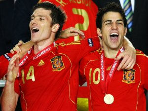 Xabi Alonso and Cesc Fabregas